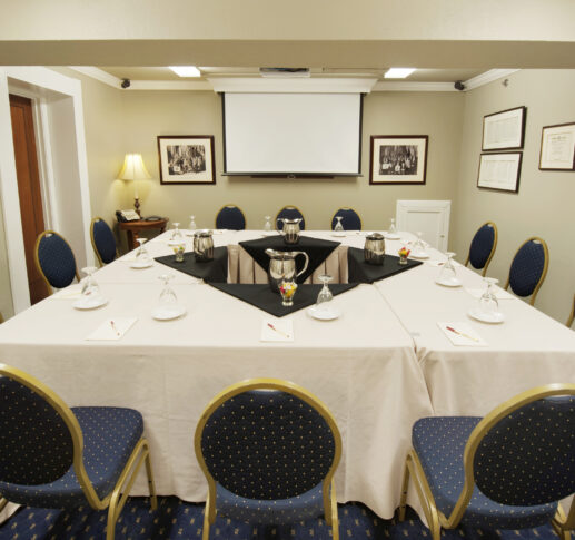 shenandoah meeting room with meeting table and projector screen