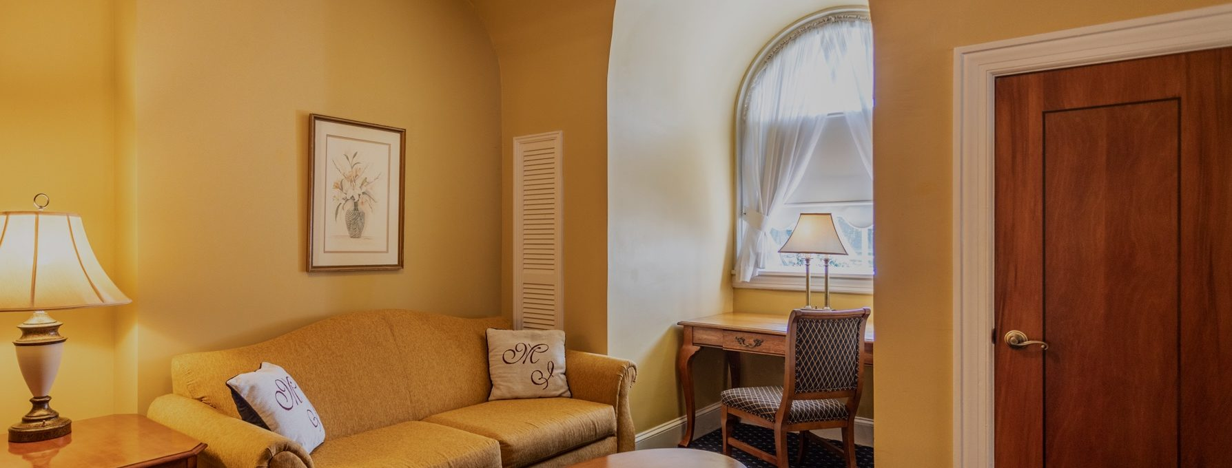 Hotel suite sitting area