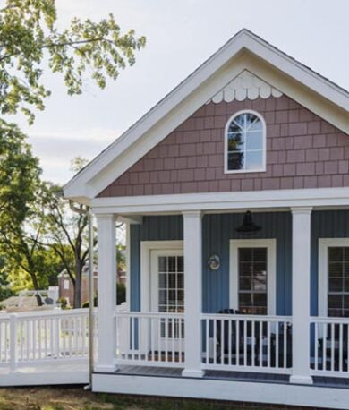 white oat cottage front view