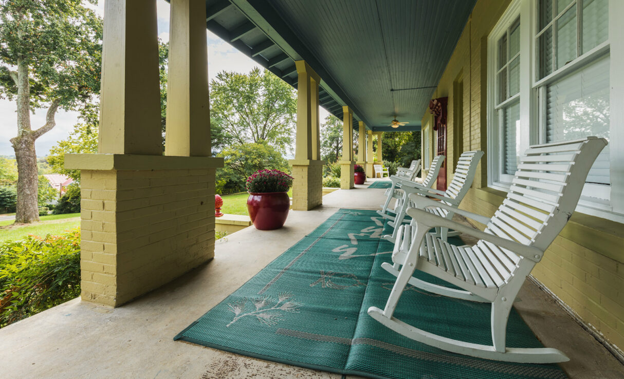 mimslyn manor front porch rocking chairs
